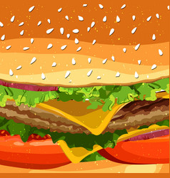 Cheeseburger fast food pattern background vector