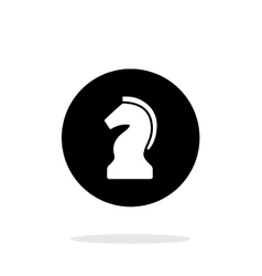 Chess Knight simple icon on white background vector image