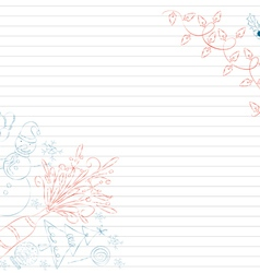 christmas doodle hand drawn element vector image