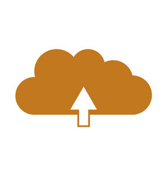cloud upload icon vector image