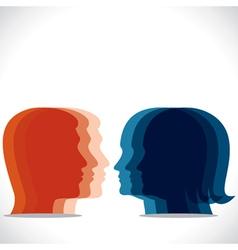 color men women head icon vector image vector image