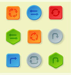 Colorful website turn buttons design vector