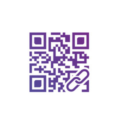 concept of qr scanning with link icon isolated vector image