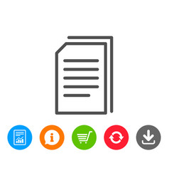 Copy documents line icon file sign vector