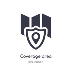 Coverage area icon isolated coverage area icon vector