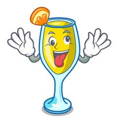 Crazy mimosa mascot cartoon style vector