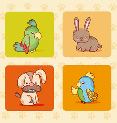 cute pets collection vector image