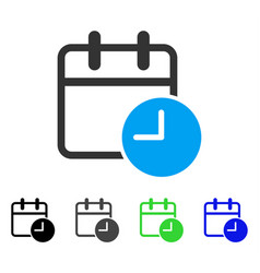 Date time flat icon vector