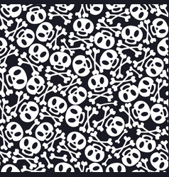 day dead holiday skulls pattern vector image