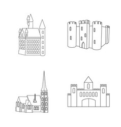 design of fairytale and medieval symbol vector image