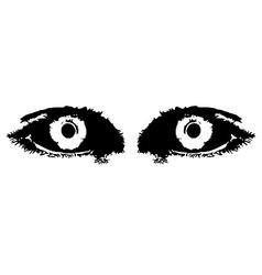 Devil eyes vector