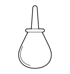 Enema icon outline style vector image