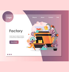 factory website landing page design vector image