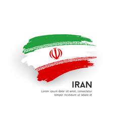 flag iran brush stroke design isolated vector image