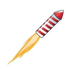 flying firecracker icon vector image