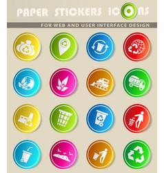 Garbage icon set vector
