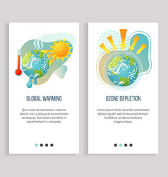 Global warming ozone depletion ecology problems vector