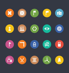 Glyphs Colored Icons 40 vector image