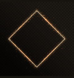 gold frame with sparkles vector image