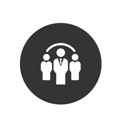 group icon in modern style for web site and vector image