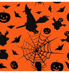 Halloween card seamless pattern background vector