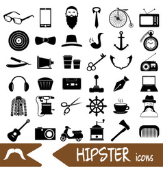 Hipster theme and culture set of icons eps10 vector