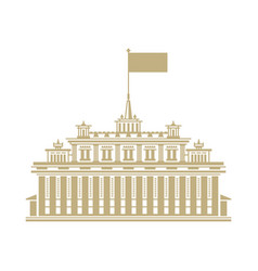 hotel house with a flag on the roof vector image