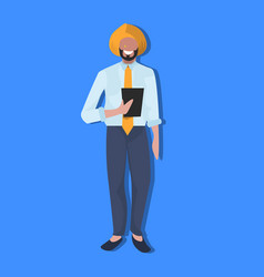 Indian businessman using tablet national vector