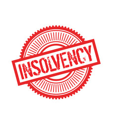 Insolvency typographic stamp vector