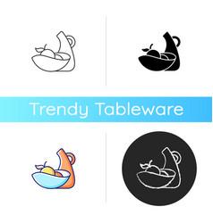 Irregular shape tableware icon vector