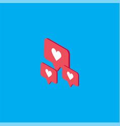 Like isometric template design vector