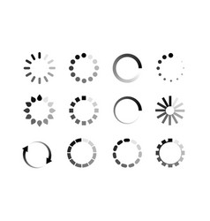 Loader icon circle button load sign symbol vector