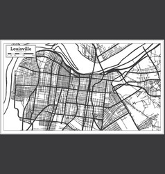 Louisville kentucky usa city map in retro style vector