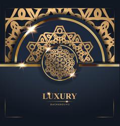 luxury golden mandala background free vector image