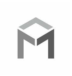 m logo technology style vector image