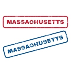 Massachusetts rubber stamps vector