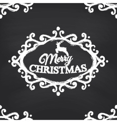 Merry Christmas on blackboard background vector image