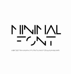minimal style font minimalistic alphabet letters vector image