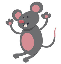 Mouse cartoon character vector