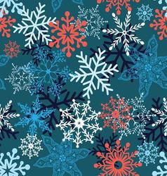 Multi-colored snowflakes form a beautiful pattern vector image