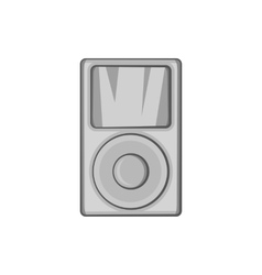 Music player icon black monochrome style vector image