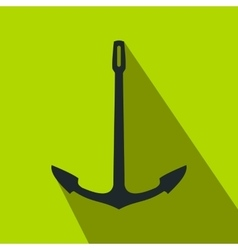 Old anchor flat icon vector image