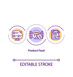 Product feed concept icon vector