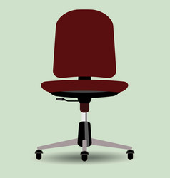 Red office chair furniture vector