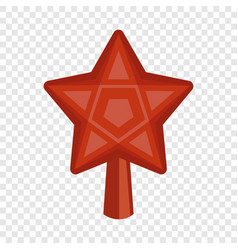 red star fir tree icon flat style vector image