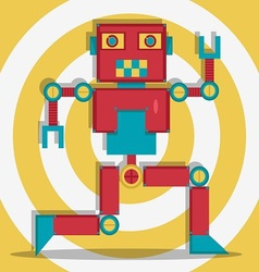 Retro Robot 1 The Dacer vector image