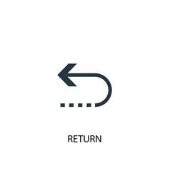 Return icon simple element return vector