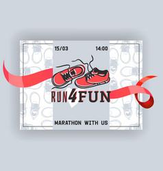 run for fun banner flyer vector image