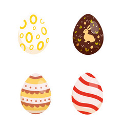 set easter eggs collection of vector image