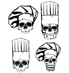 Skull in toque set vector